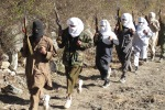 Pakistani Talibans get military training at the Pak-Afghan border in South Waziristan
